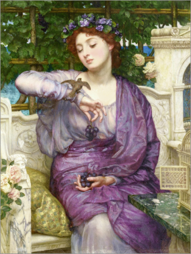 Sir Edward John Poynter - Lesbia with her Sparrow