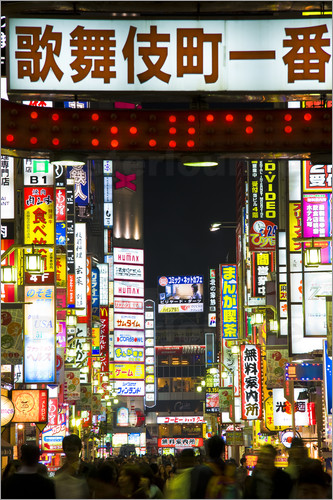 Poster Neon signs in Tokyo