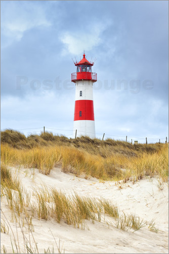 Poster Lighthouse in the east of the peninsula Ellenbogen