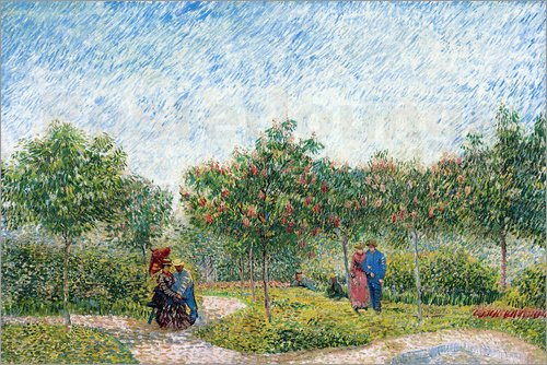 Vincent van Gogh - Courting Couples in the Voyer d'Argenson Park in Asnieres