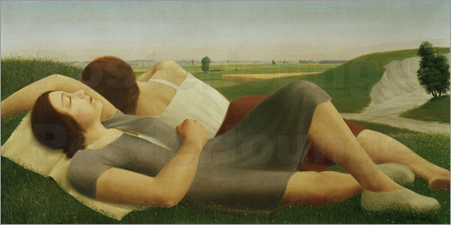 Georg Schrimpf - Lying Girl in the greenery