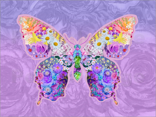 Alixandra Mullins - Purple Floral Buttefly