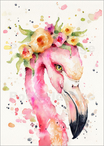 Sillier Than Sally Little Flamingo Poster Posterlounge