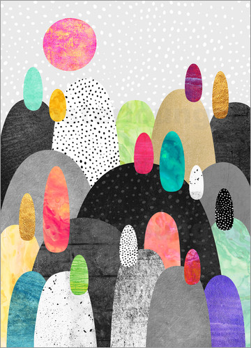 Poster Little Land of Pebbles