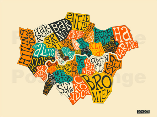 Poster London Boroughs