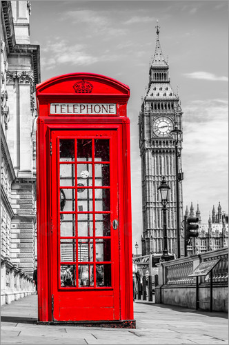 Poster London phone booth