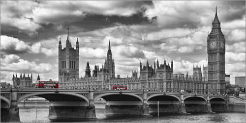 Poster london westminster bridge panoramic