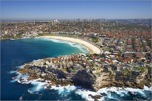 David Wall - Aerial shot of Bondi Beach