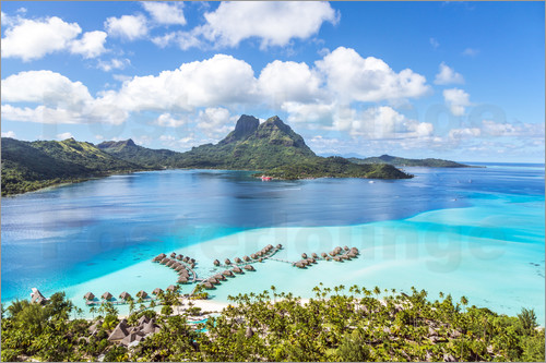 Matteo Colombo - Aerial view of Bora Bora island and lagoon, French Polynesia