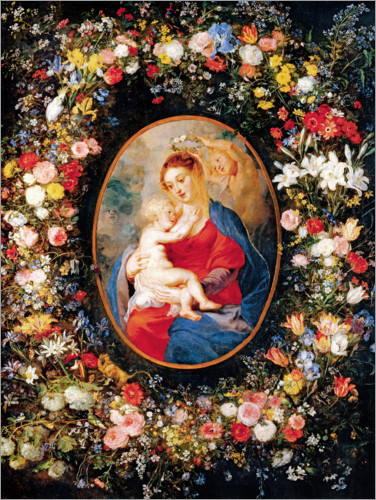 Jan Brueghel d.Ä. - Madonna in the floral wreath