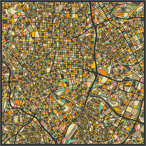 Poster Madrid Map