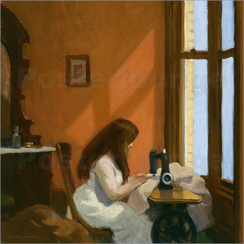Edward Hopper - Girl at a Sewing Machine