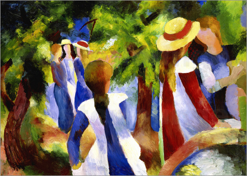 August Macke - Girls under trees