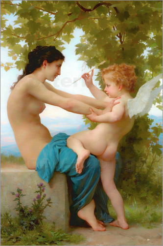 William Adolphe Bouguereau - A young girl defending herself against Eros