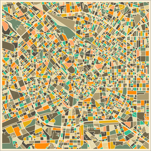 Jazzberry Blue - Milan Map