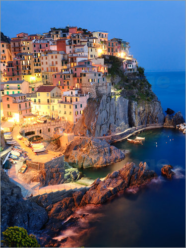 Poster Manarola in the evening