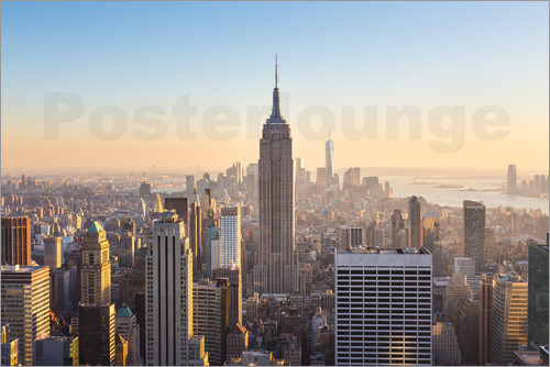 Poster Manhattan downtown skyline