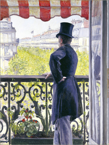 Gustave Caillebotte - Man on a Balcony
