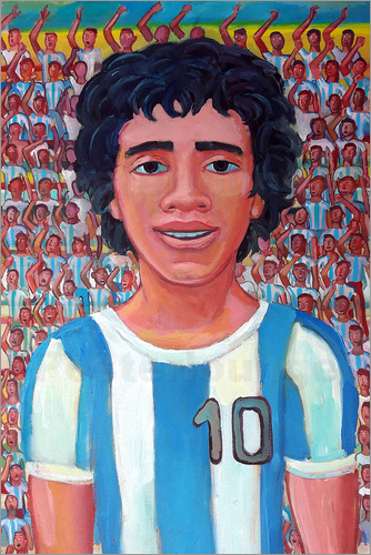 Diego Manuel Rodriguez - Maradona and the crowd