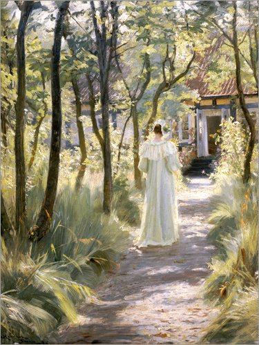 Peder Severin Kroyer - Marie on a garden path