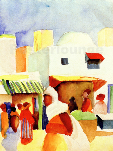 August Macke - Market in Tunis I