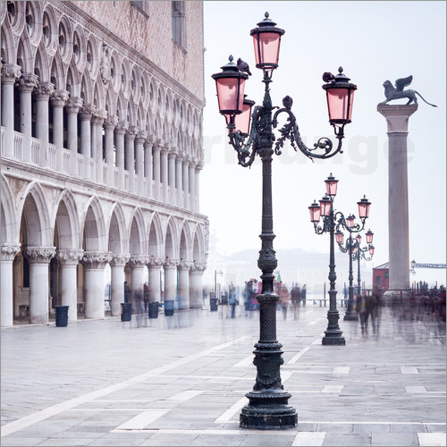 Poster St. Mark's Square in Venice in Winter
