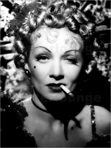 Poster Marlene Dietrich with a cigarette