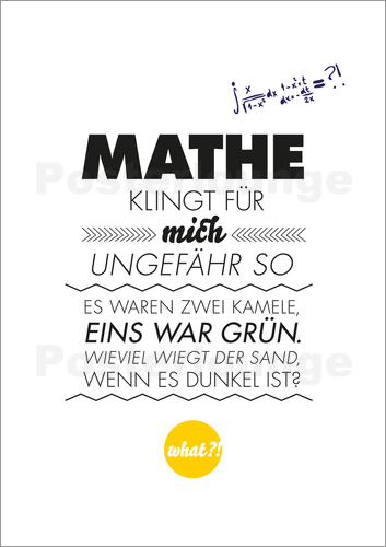formart zeit f r sch nes mathe poster posterlounge. Black Bedroom Furniture Sets. Home Design Ideas