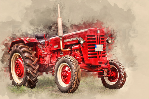 peter roder mccormick tractor oldtimer poster posterlounge. Black Bedroom Furniture Sets. Home Design Ideas