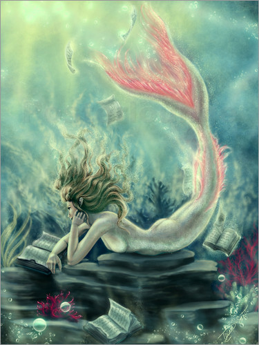 Tiffany Toland-Scott - Reading Mermaid - Lost Books