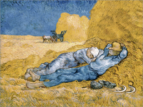 Poster Noon, The Siesta, after Millet