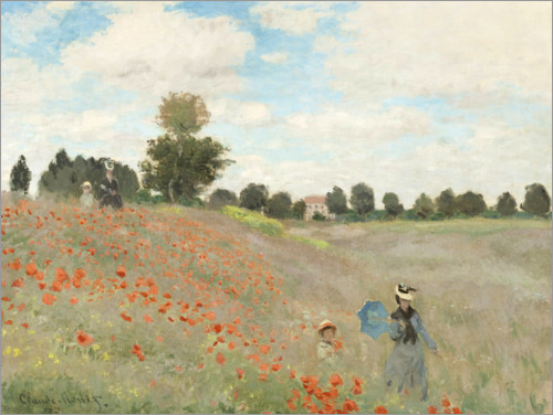 Claude Monet - Poppy Field at Argenteuil