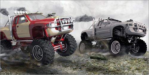 Poster Monster Truck Race