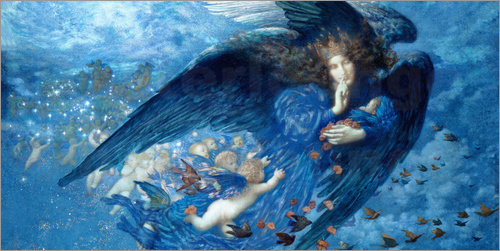 Edward Robert Hughes - Night with her Train of Stars