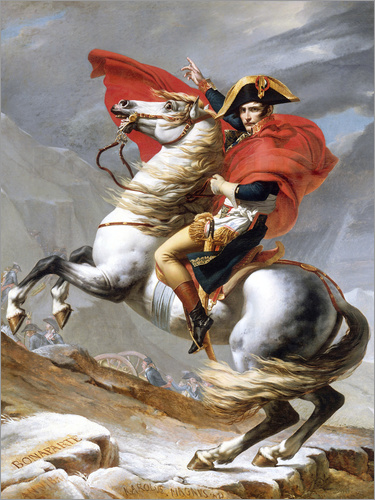 Jacques-Louis David - Napoleon Crossing the Grand Saint-Bernard Pass