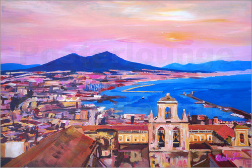 M. Bleichner - Naples with Mount Vesuvio