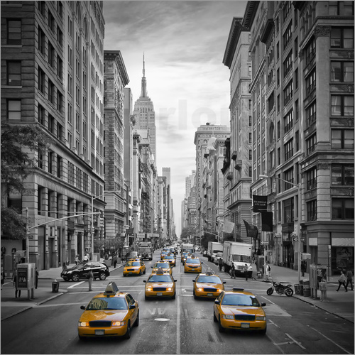 Poster NEW YORK CITY 5th Avenue Traffic