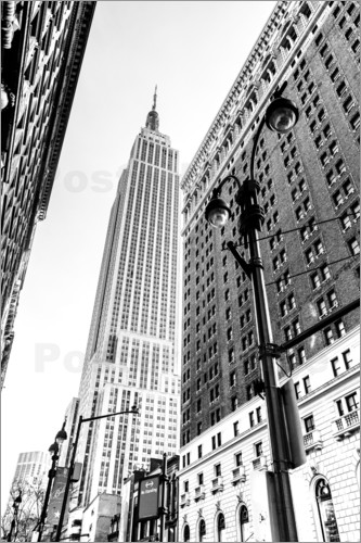 Poster New York City - Empire State Building (monochrome)