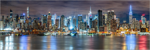 Poster New York City Skyline panoramic view