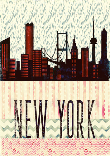 Poster NewYork in the Rain