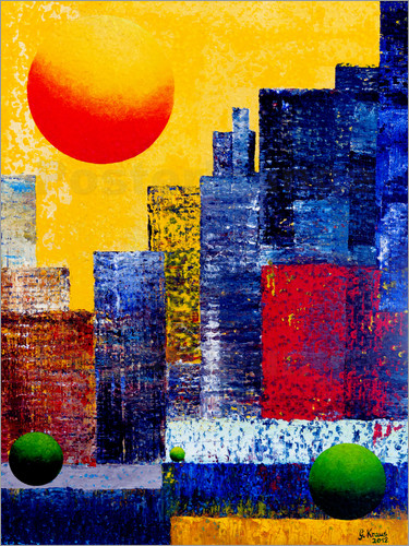 Poster New York Skyline Abstrakt