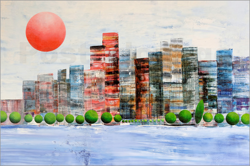 Gerhard Kraus - New York  skyline, abstract