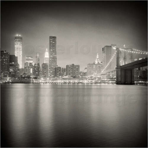 Alexander Voss - New York Skyline at Night (Analogue Photography)