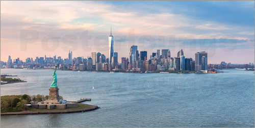 Poster New York skyline with Statue of Liberty
