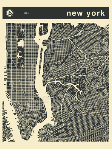 Poster NEW YORK CITY MAP