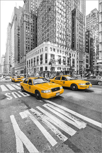 marcus klepper new york yellow cab poster posterlounge. Black Bedroom Furniture Sets. Home Design Ideas