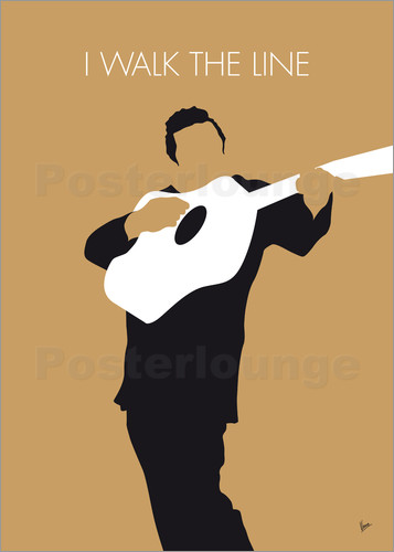 Poster No010 MY Johnny Cash Minimal Music poster
