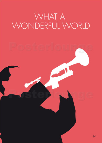 Poster No012 MY LOUIS ARMSTRONG Minimal Music poster