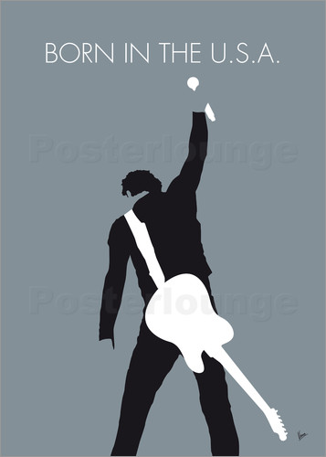 Poster No017 MY Bruce Springsteen Minimal Music poster