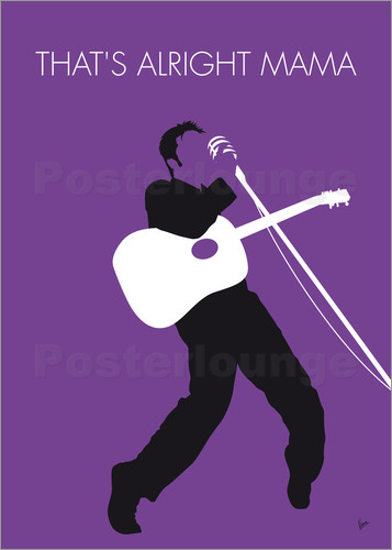 Poster No021 MY ELVIS Minimal Music poster